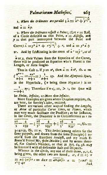 Mathematical treatise showing Pi