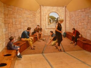 Roman communal toilet