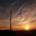 wind turbine and sun