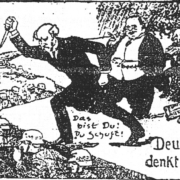 Dolchstoss German cartoon