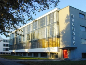 Bauhaus school building in Dessau