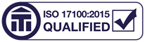 ISO qualified translator logo