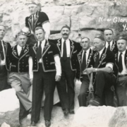 Group of Swiss male yodelers