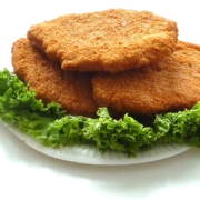 German breaded cutlet with lettuce