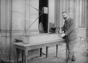 Ludwig Prandtl with his fluid test channel