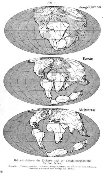 Alfred Wegener: Die Entstehung der Kontinente und Ozeane, 1929